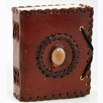 Small God's Eye Leather Blank Book 45-BBBCGES