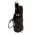 Deluxe Leather Cup Can Water Bottle Drink Holder B