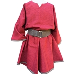 Red Medieval Linen Tunic