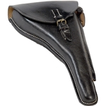 German WWII P08 Luger Hard Shell Holster 6 inch Barrel Black 5580287