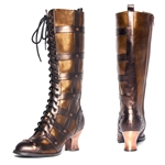 Steampunk Victorian Knee High Boots In Brown