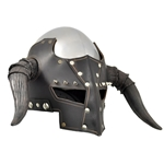 Slayer Helmet - Leather and Steel