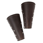 Baudouin Leather Arm Bracers - Brown