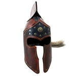 Roman Leather LARP Helmet