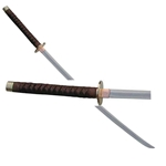 Braided Leather Giant Japanese Samurai Katana Sword 62-2036