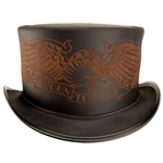 Born To Ride Leather Hat