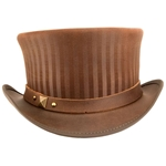 Leather Ringmaster's Top Hat