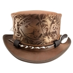 Leather Cocktailer Hat