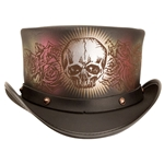 Black Leather Deadly Love Top Hat
