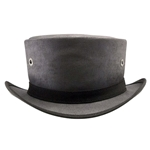 Downtown Canvas Top Hat in Black