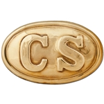 Oval Civil War Belt Buckle - Polished Brass