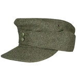 German M43 Army - Waffen SS Wool Field Cap EM Enlisted - WWII Repro