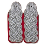 German Officer Shoulder Boards - Major Colonel - Artillery - Red
