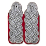 German Officer Shoulder Boards - Major Colonel - Flak - Red