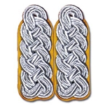 German Officer Shoulder Boards - Major Colonel - Flight - Yellow