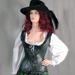 Ruffled Leather Corset 70-L651