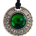 Sundial Necklace Green