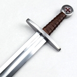 Templar Arming Sword with Scabbard
