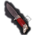 Damascus Boars Head Knife AH-3660