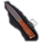 Damascus Knife Hardwood Handle DB-2104