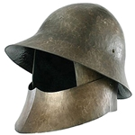 LARP Combined Bascinet and Kettle Hat DC-386