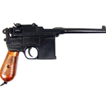 WWII 1896 Mauser Automatic Pistol Non-Firing Replica with Laquered Grips FD1024Q