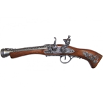 Left-Handed Flintlock Blunderbuss Gray finish - Non-Firing Replica,Left-Handed 18th Century English Flintlock - Non-Firing FD1129L