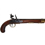 Deluxe Kentucky Flintlock Pistol Brass - Non-Firing Replica,Kentucky Flintlock Pistol Brass - Non-Firing Replica
