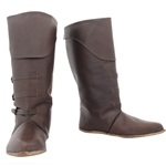 Medieval Mid Calf Leather Boot GB0645