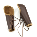 Leather Bazubands - Bracers with Elbow Protection - Brown