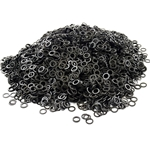 Loose Chainmail Rings - Blackened Solid Flat Ring 6mm