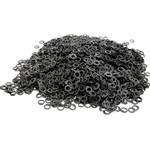 Loose Chainmail Rings - Blackened Flat Ring Dome Riveted 6mm