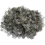 Loose Chainmail Rings - Flat Ring Dome Riveted 7mm - Mild Steel