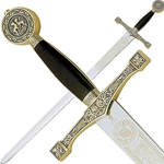 Marto Excalibur Sword Gold and Silver