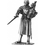 Sir Lancelot and Chair Pewter Sculpture METR003