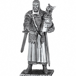 Sir Perceval and Chair Pewter Sculpture METR008