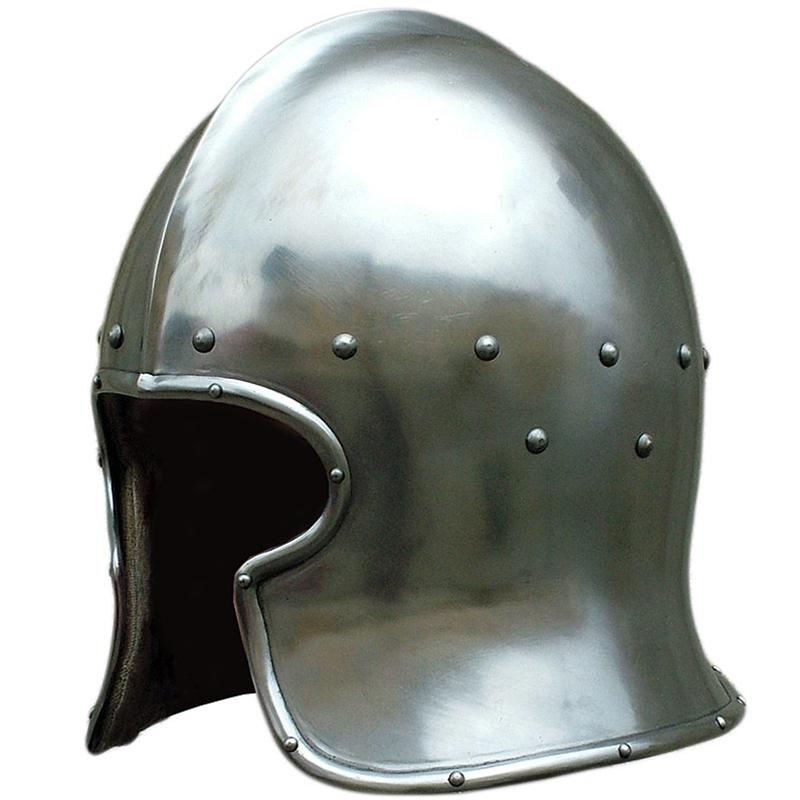 Functional Medieval Barbute Helmet - 15th Century