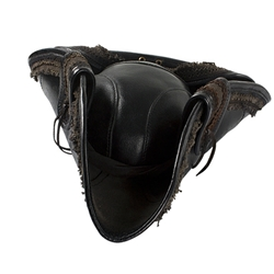 bcdffb4a816dc Deluxe Leather Pirate Hat in Black