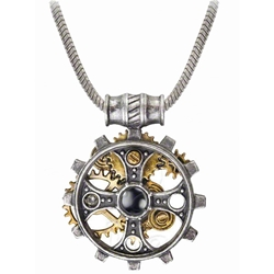 Foundryman's Ring Cross Necklace