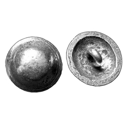 Domed Pewter Shank Button