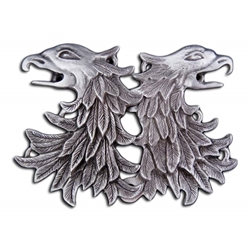 Double Griffin Head Cloak Clasp