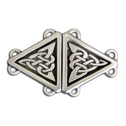 Celtic Triangle Cloak Clasp