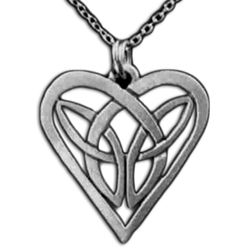 By the sword inc celtic knot heart necklace celtic knot heart necklace pendant 1261004 aloadofball Images