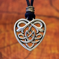 By the sword inc celtic heart knot pendant celtic heart knot pendant necklace 1210664 aloadofball