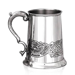 Celtic Scene Pewter Tankard One Pint CEL137