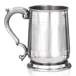 Cavalier Satin Band Pewter Tankard One Pint
