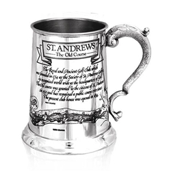 Saint Andrews Course One Pint Pewter Tankard