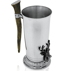 Stag Handle 3/4 Pint Pewter Tankard