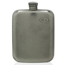 Vintage 1914 Pewter Flask 6 Ounces