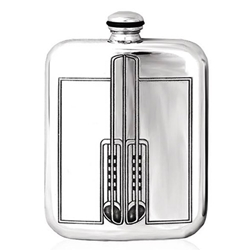 Mackintosh Stamped Pewter Flask 6 Ounces